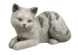 Deko Katze Garten Tier Figur Skulptur Katzenfigur Katzen Paar Dekofigur Statue