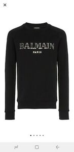 Balmain Metallic Logo Sweatshirt XL
