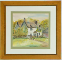 Jeff Gibbons - Contemporary Watercolour, A Country Cottage