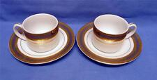 CASA ELITE-DESIGN M.VALENTI-ITALY-SET OF 2 COFFEE  CUPS&SAUCERS