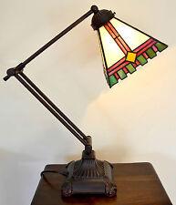 BL03 Handmade Tiffany Style Glass Extending Desk Lamp Light-Ideal Home/Office