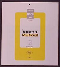 Prinz Scott Stamp Mount 192/230 BLACK Background Pack of 3