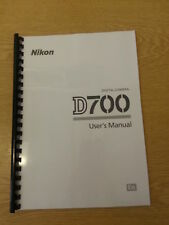 NIKON D700 CAMERA FULLY PRINTED USER GUIDE INSTRUCTION MANUAL  472 PAGES