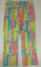 Clothing, Shoes & Accessories Precise New Lilly Pulitzer Kelly Skinny Ankle Pant Pink Sunset Size 6 $148 Women's Clothing