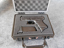 Pelican-style Case w/Solid Foam CUSTOM Cutout for GLOCK 26-9X19 9mm- Apache 1800
