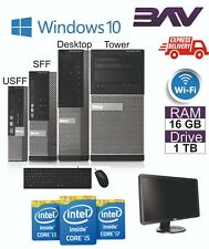 FAST Dell Computer Desktop PC BUNDLE INTEL i3 i5 i7 500GB 2TB HDD SSD 8GB 16GB