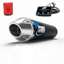 HMF Competition Slip On Exhaust + EFI Optimizer + Uni Filter Raptor 700 15-17