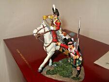"Britains 36061 ""Forward Gordons"" Scots Grey Bugler & Gordon Highlander,Waterloo,"