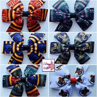"""Harry Potter Hair Bows/Clips - 3"""" -  6 Designs - Hogwarts Houses, Gryffindor"""