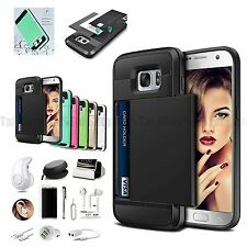 Card Pocket Wallet Case Cover Wireless Headset Charger For Samsung Galaxy S8 S8+