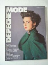 Magazine mode fashion DEPECHE MODE french #40 septembre 1985 Isabella Rossellini