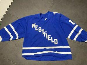 1980's Vintage Westfield NJ High School XL Hockey Jersey CCM New Jersey