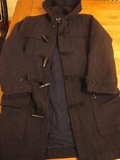 EUC GAP Wool Blend Duffle Coat Size XS Blue Toggle Buttons