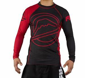 Fuji Drillers MMA BJJ Jiu Jitsu LongSleeve Long Sleeve LS Rashguard Rash - Red