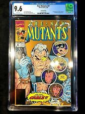 New Mutants #87 CGC 9.6 White Pages Second 2nd Print Cable Gold Edition