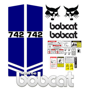 Bobcat 742 Melroe Skid Steer Set Vinyl Decal Sticker 3M - 25 PC