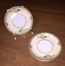 """Vintage Meito China 5-3/4"""" Saucers Set of 4 Hand Painted Japan, EXC COND!"""