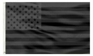 3x5FT All Black American Flag US Black Flag Tactical Decor Blackout USA