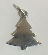Retired James Avery Flat Christmas Tree Charm Sterling Silver
