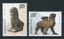 China 2017 MNH Lion Statues JIS Joint Issue Cambodia 2v Set Artefacts Art Stamps