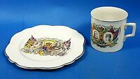 King George & Queen Mary ~ Silver Jubilee May 6th 1935 Commemorative Mug ~ Plate