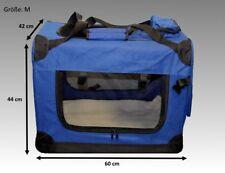 "Faltbare Hundebox Hundetransportbox Hunde Katzen Katzentransportbox Blau ""M"""
