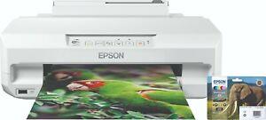 Epson Expression Photo XP-55 Inkjet Printer: CD/DVD Printing, Wi-Fi, AirPrint