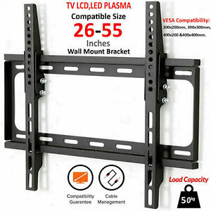 """TV Wall Bracket Mount Tilt Slim for 26 30 32 40 46 48 50 55"""" 3D LED LCD Plasma"""