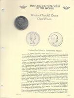 Historic Coins the World Elizabeth II Great Britain 1965 Crown aUNC Churchill