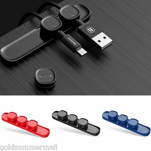 Peas Magnetic Cable Clip USB-Cable Organizer Clamp Charger Wire Holder EN