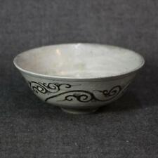 Korean Joseon Dynasty Keiryuzan Tea Bowl / W 14.1× H 5.7[cm] Pot Plate