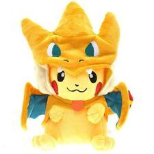 Pokemon Pikachu With Charizard Hat Plush Soft Toy Stuffed Animal Doll 9''