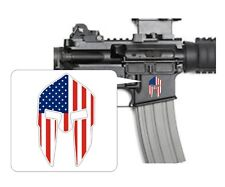 Lower Spartan Skull Helmet American Flag Stickers | Vinyl Decals | Patriotic USA