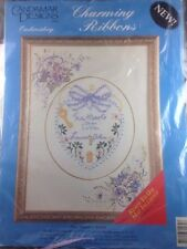 Candamar Embroidery Charming Ribbons Kit 80269 Two Hearts Wedding Oval Mat