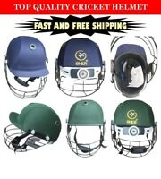 New  Adjustable  Multi  COLOUR MEN,S Cricket Helmet with black Grill FOR PRO
