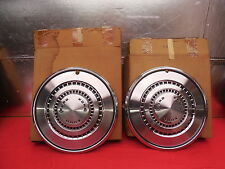 """2 NOS 73 74 75 76 Ford Galaxie 500 LTD Torino 15"""" Wheelcovers #D3AZ-1130-D"""