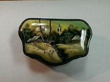 GENUINE RUSSIAN HANDPAINTED LACQUER BOX FEDOSKINO ART SCHOOL SIGNED BY MOROZOVA