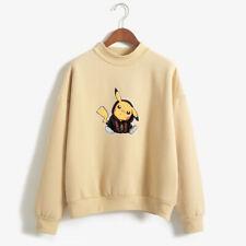 Pikachu Kawaii Harajuku Pastel Jumper Pokemon Hoodie Sweater Japan Anime