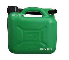 5 LITRE PLASTIC FUEL JERRYCAN PETROL WATER JERRY CAN GREEN & SPOUT