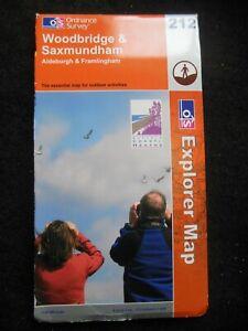 Ordnance Survey Explorer Map - Woodbridge & Saxmundham - Suffolk - Sheet 212