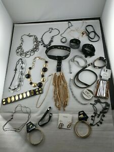 All *DESIGNER SIGNED* Jewelry Lot Black Gold & Silver Tone POUNDS 20+ pieces *i