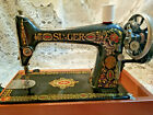 Vintage Singer Sewing Machine Model 66  Red Eye  or  Red Head  with HandCrank