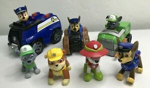 PAW PATROL *Jungle Rescue Racers & Figures *RUBBLE *MARSHALL * ROCKY *CHASE