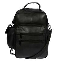 Hochwertige Herren Arbeitstasche Tasche Umhängetasche echt Leder Schwarz Bag