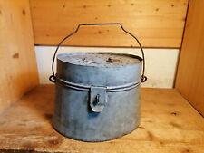alter französischer verzinkter Köderfischbehälter Angler Zink Antikdeko