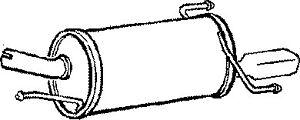 Exhaust Back / Rear Box fits VAUXHALL CORSA D 1.4 Z14XEP Klarius 13126165 New
