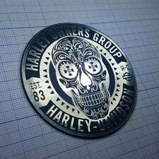 Harley Davidson Owners Group - Metallic Sticker Aufkleber Badge - 70mm x 70mm