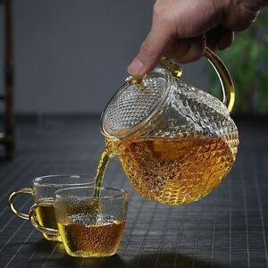 Borosilicate Teapot Household High Temperature Resistance Hammer Pattern Teapot