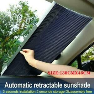 Retractable Folding Car Front Window Sun Shade Visors Windshield Block Cover
