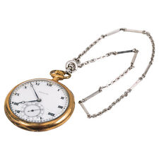 "Hamilton Gold Filled White Dial Pocket Watch Gold Filled Chain 13"" 70.2 Grams"
